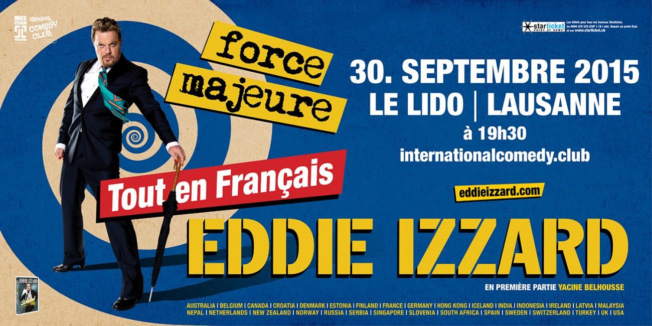 Eddie izzard force majeure tout en fran ais lausanne for Stand en francais